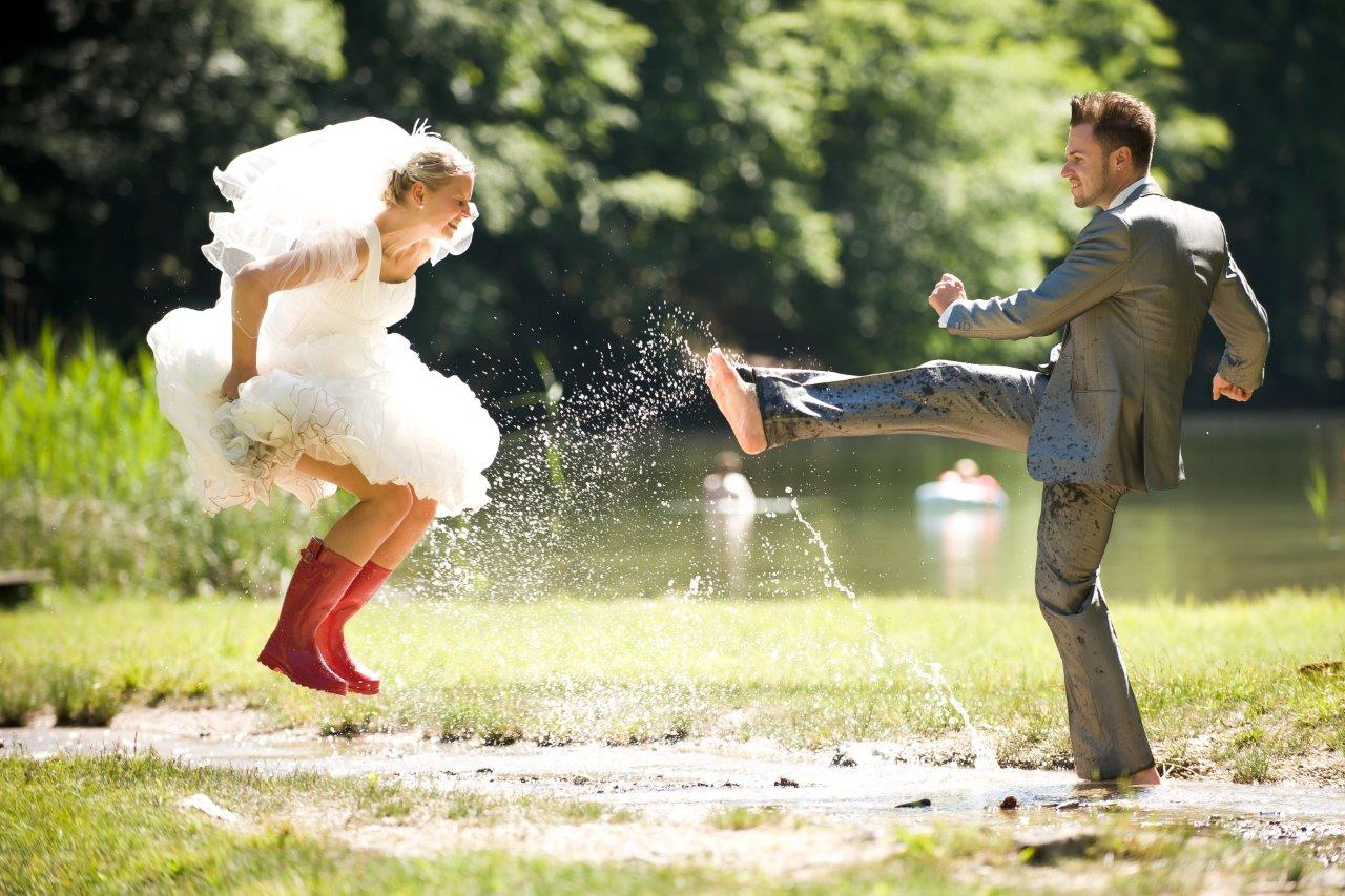 Puddle jumping trash the dress