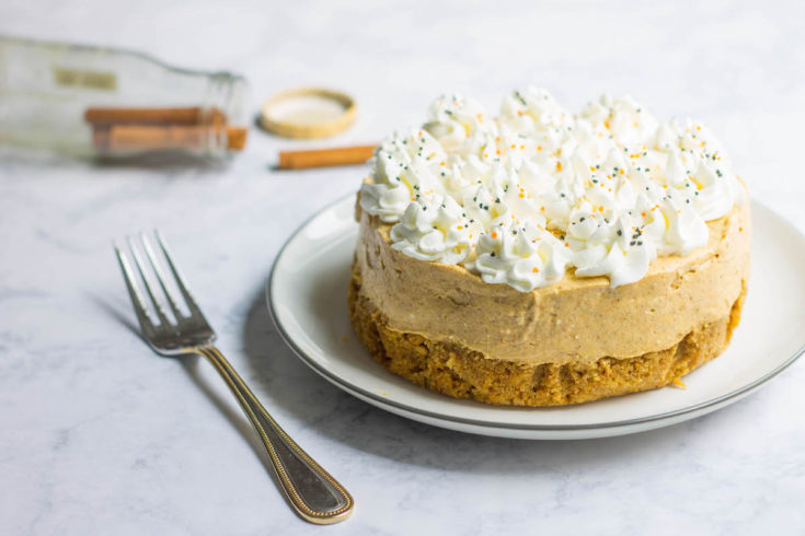 Pumpkin mousse cheesecake