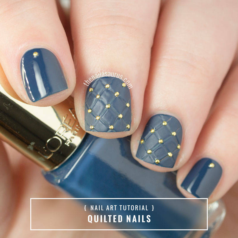 Quilted nail art tutorial