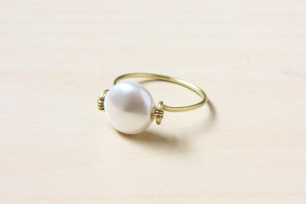 Simple diy wire wrapped ring
