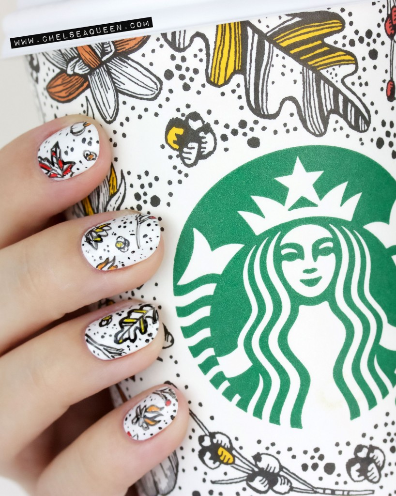 Starbucks cup nail diy