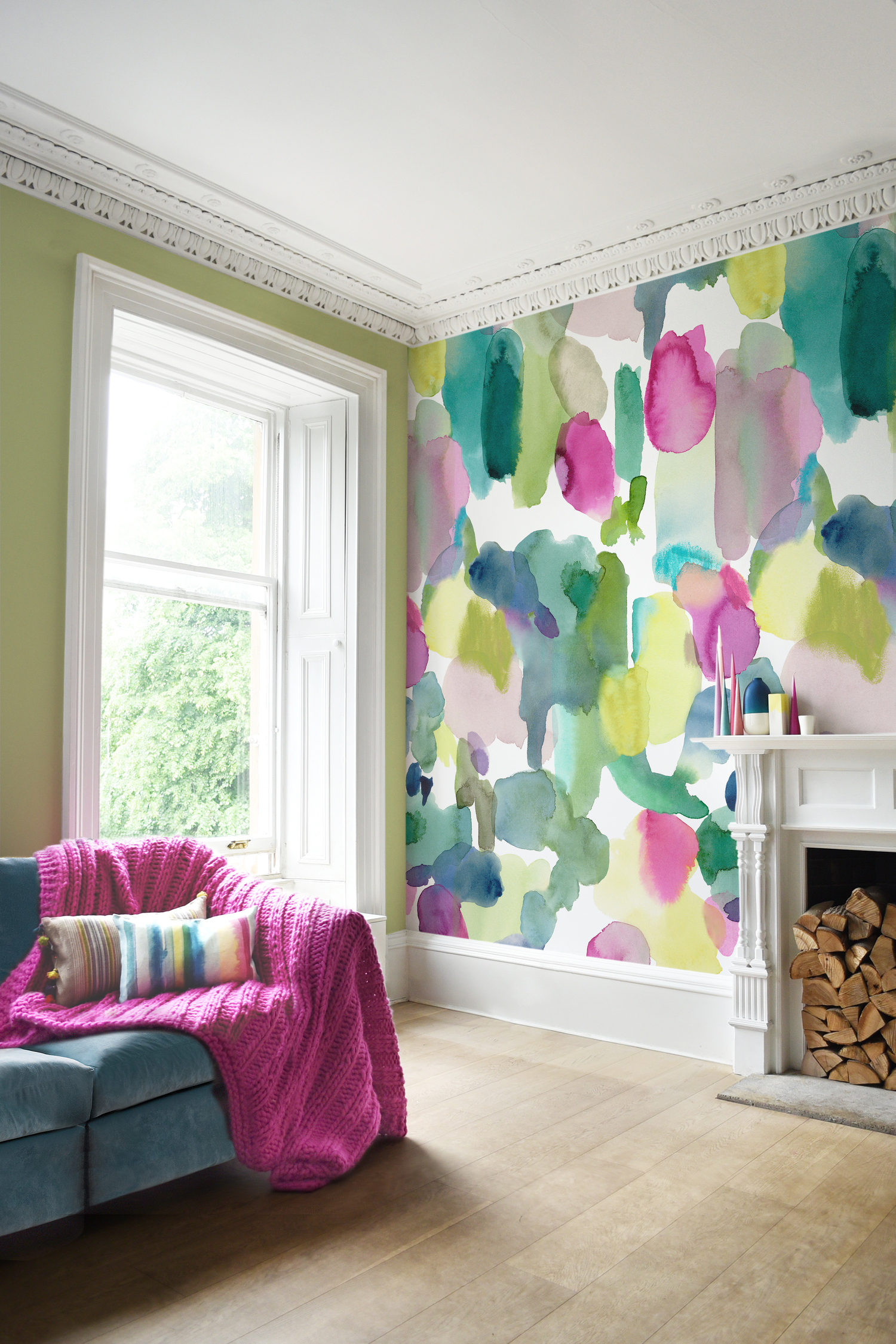 Watercolor painting wallpaper