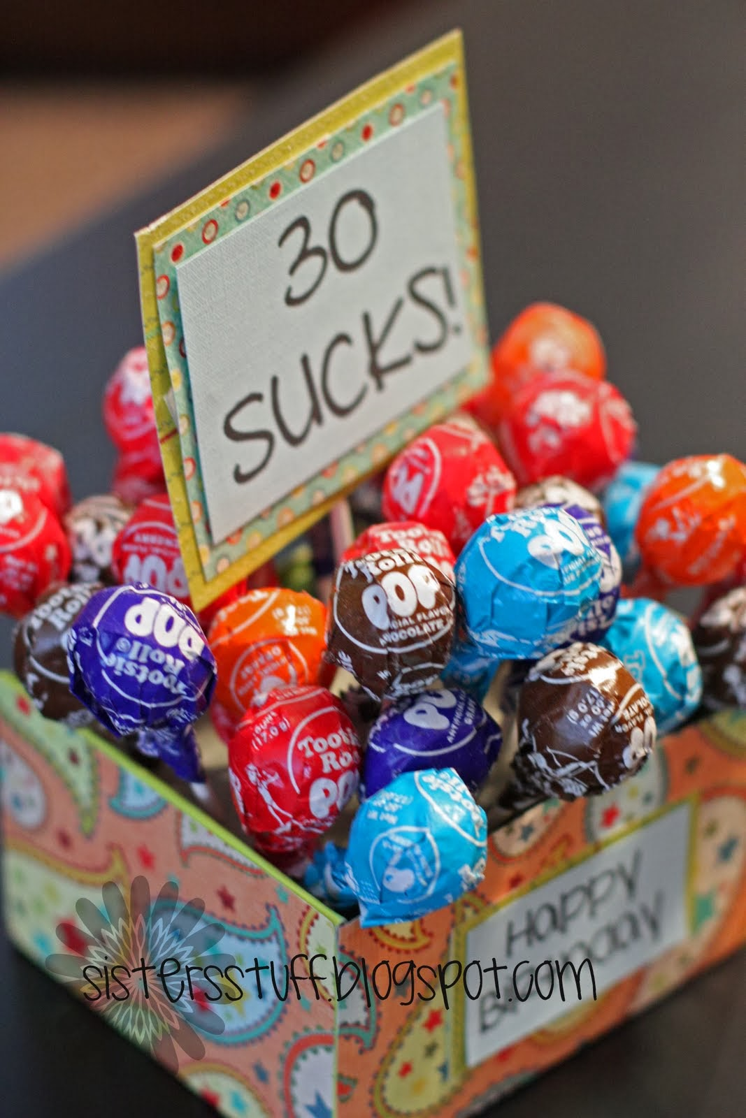 30 sucks lollipops