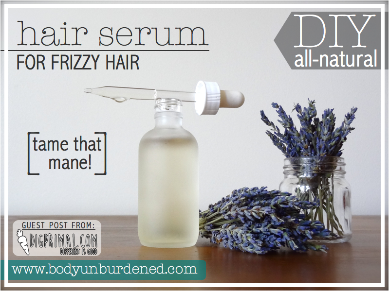 All natural smoothing hair serum