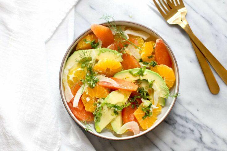 Avocado citrus salad recipe
