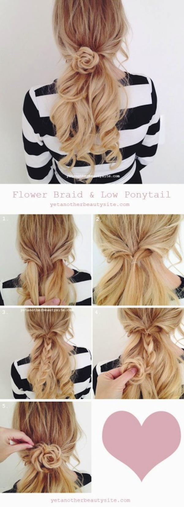 Braided flower hair