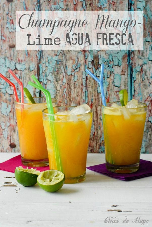 Champagne mango lime agua fresca