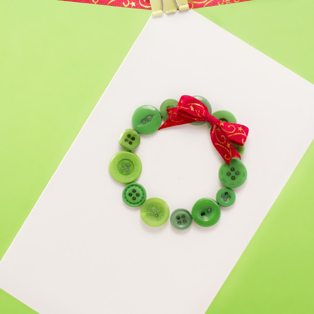 Christmas wreath diy christmas card