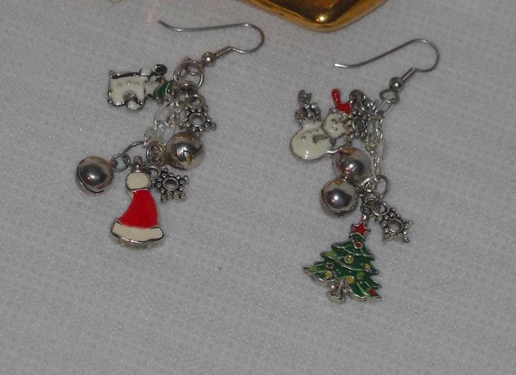 Christmas charm earrings