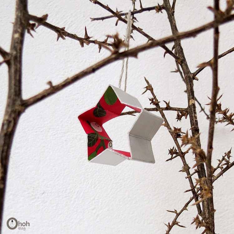 Christmas star ornament diy
