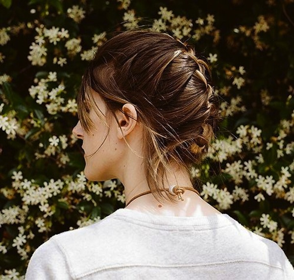 Classic tucked back french braid