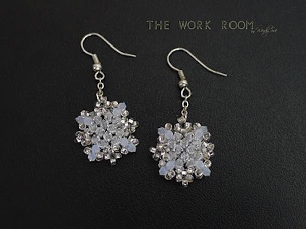 Crystal snowflake earrings