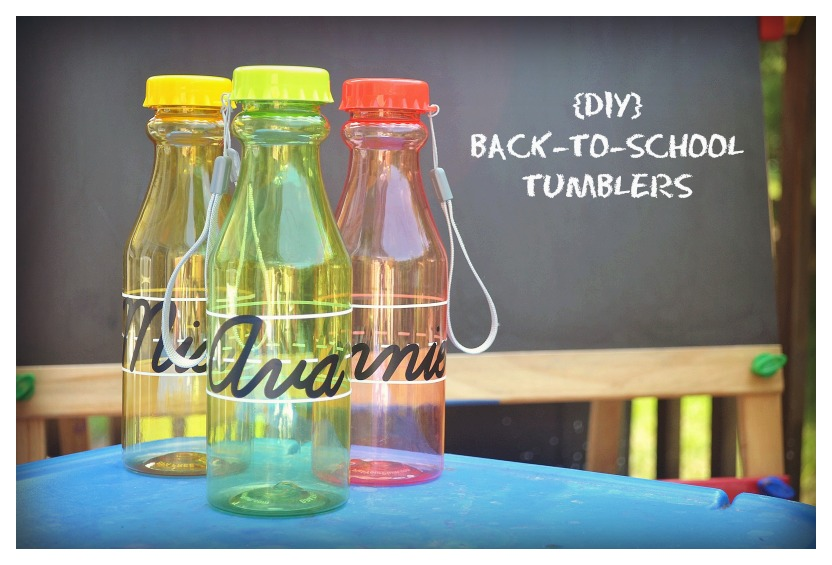 Diy back to school tumblers from nikki in stitches vinyl embellished water bottles