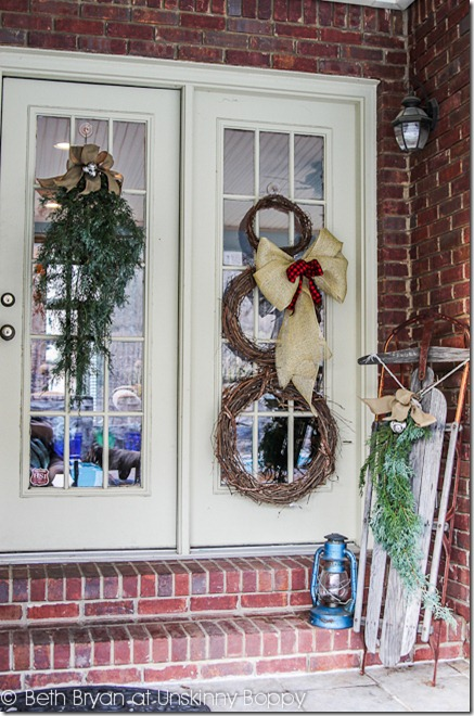 diy christmas front porch decor ideas with sled - Front Porch Christmas Decorations Ideas