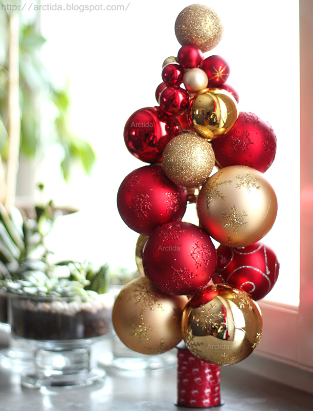 Diy christmas ornament tree