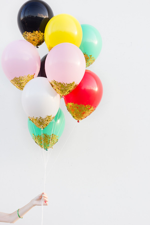 Diy confetti dipped balloons Celebrate In Style