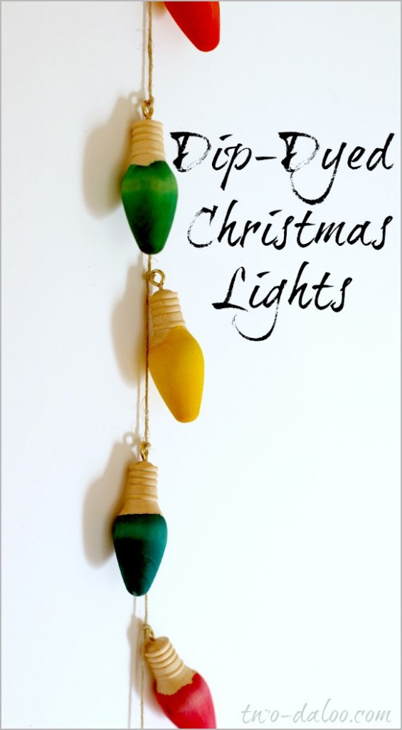 Diy dip dyed christmas lights