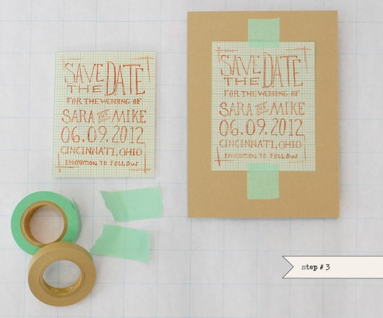 Diy graph paper save the date