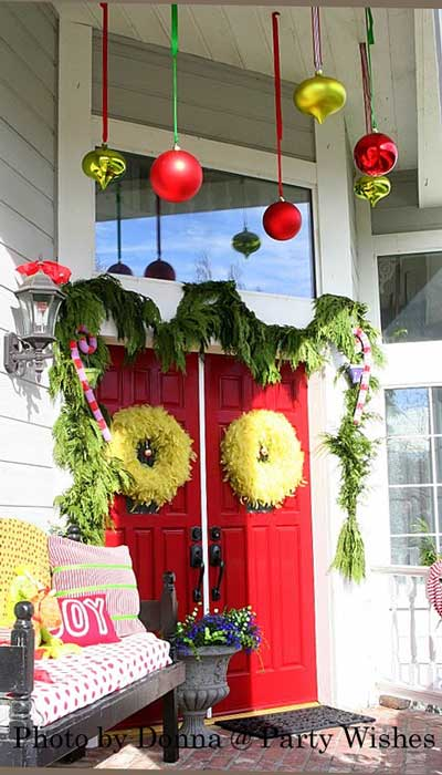 Diy grinch front porch
