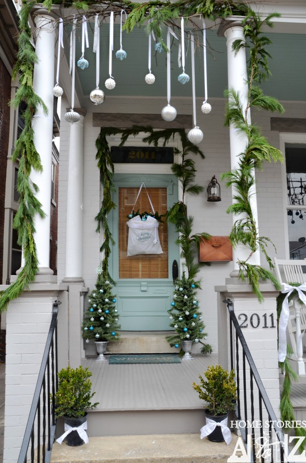 Diy hanging ornaments front porch