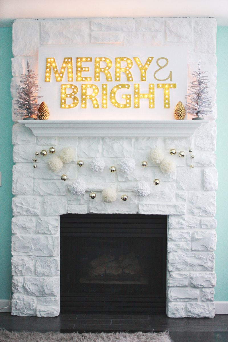 Diy merry and bright marquee