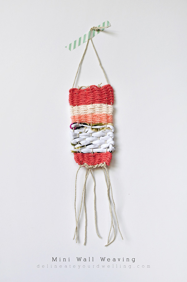 Diy mini wall weaving