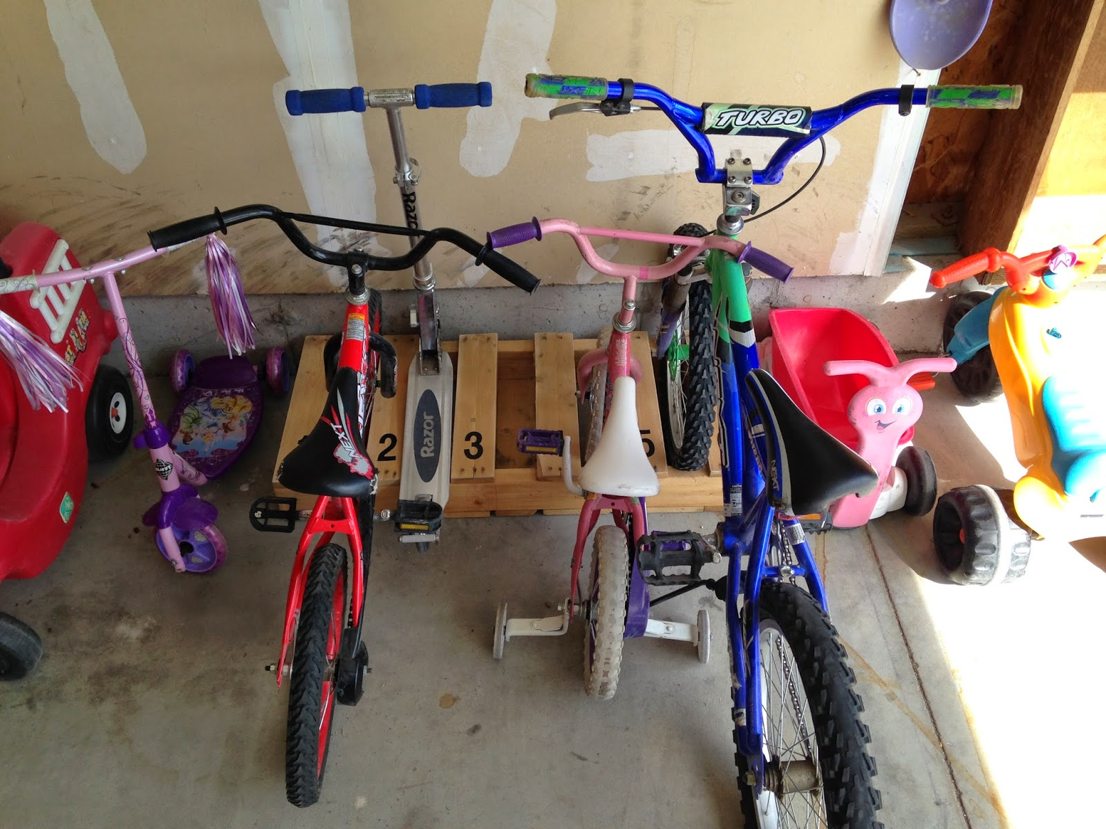 Diy numbered bike rack