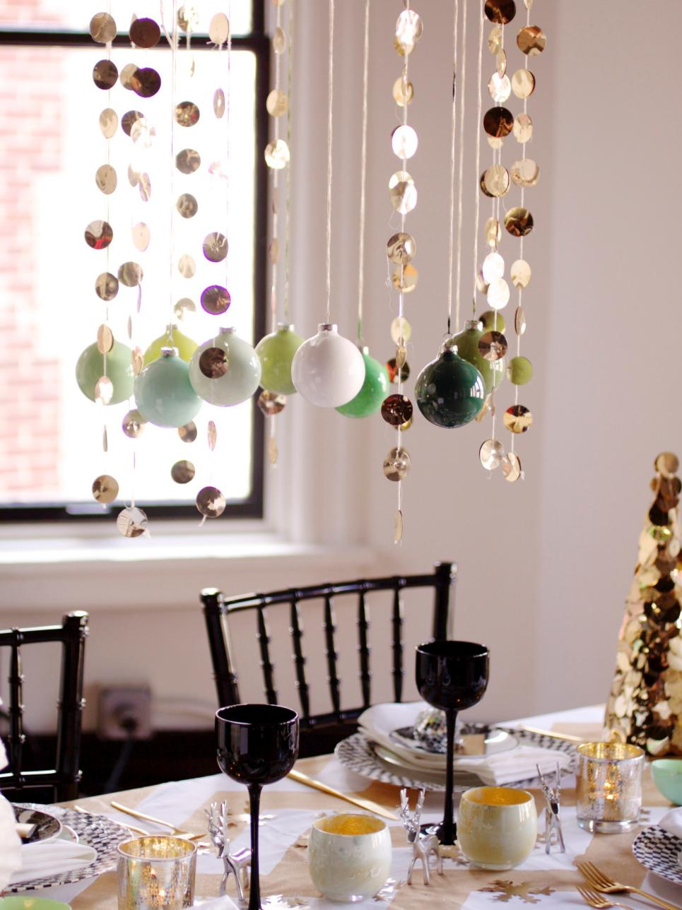 Diy ombre ornament centerpiece