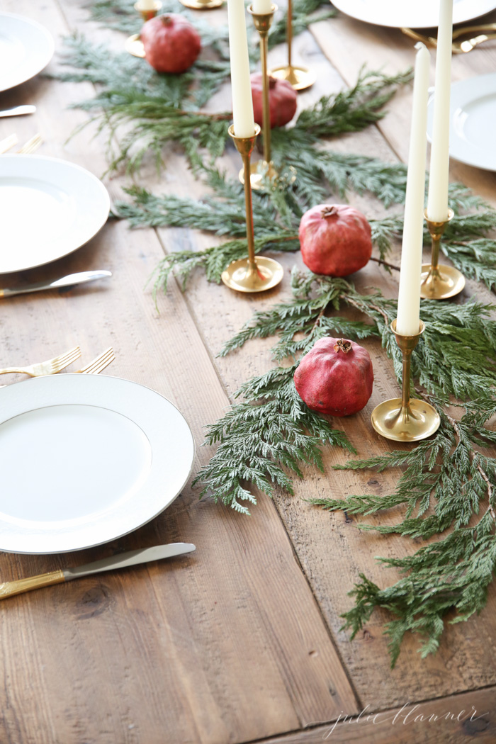 Diy organic holiday centerpiece idea