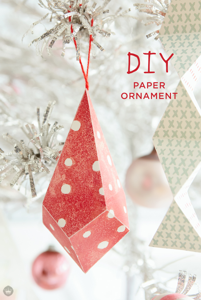 diy paper ornament - Paper Christmas Tree Decorations