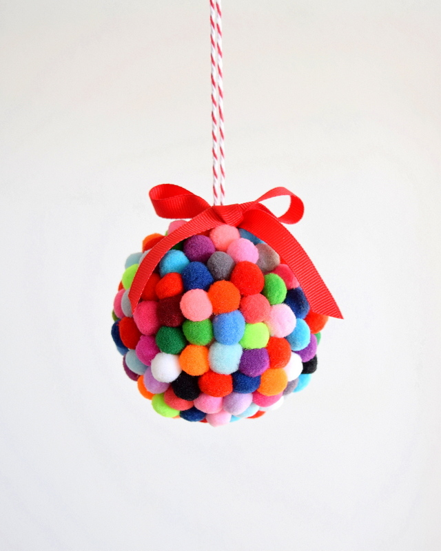 Diy pom pom ornament northstory