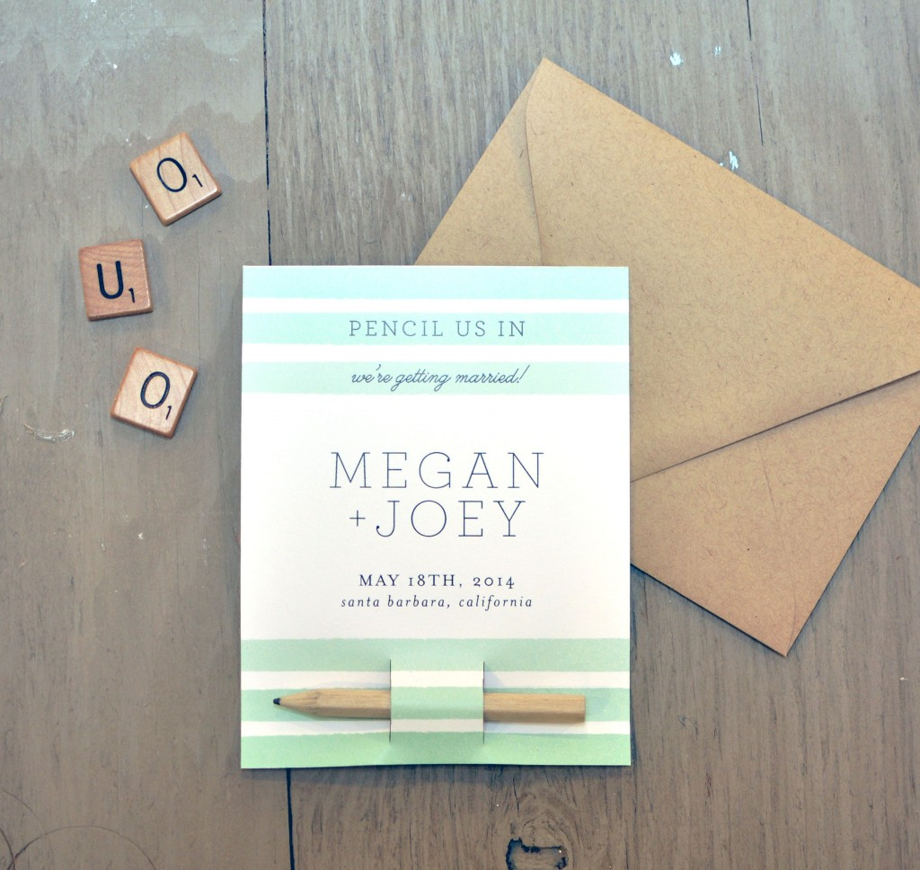 Diy save the date pencil us in