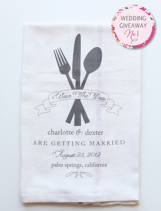 Diy save the date dish towels
