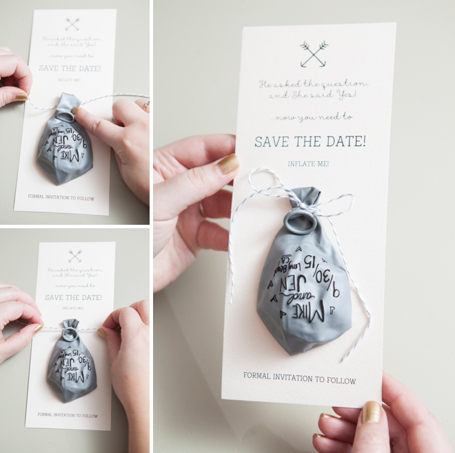 Diy sharpie balloon invitation