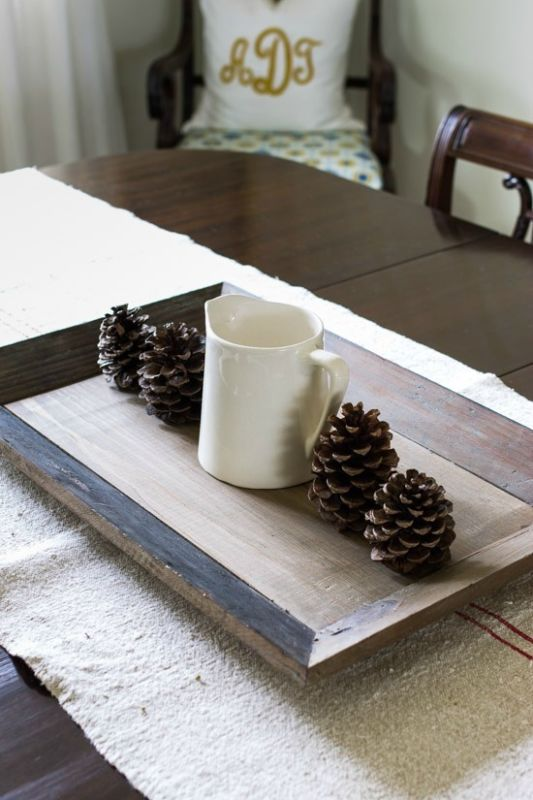 Diy simple pine cone centerpiece