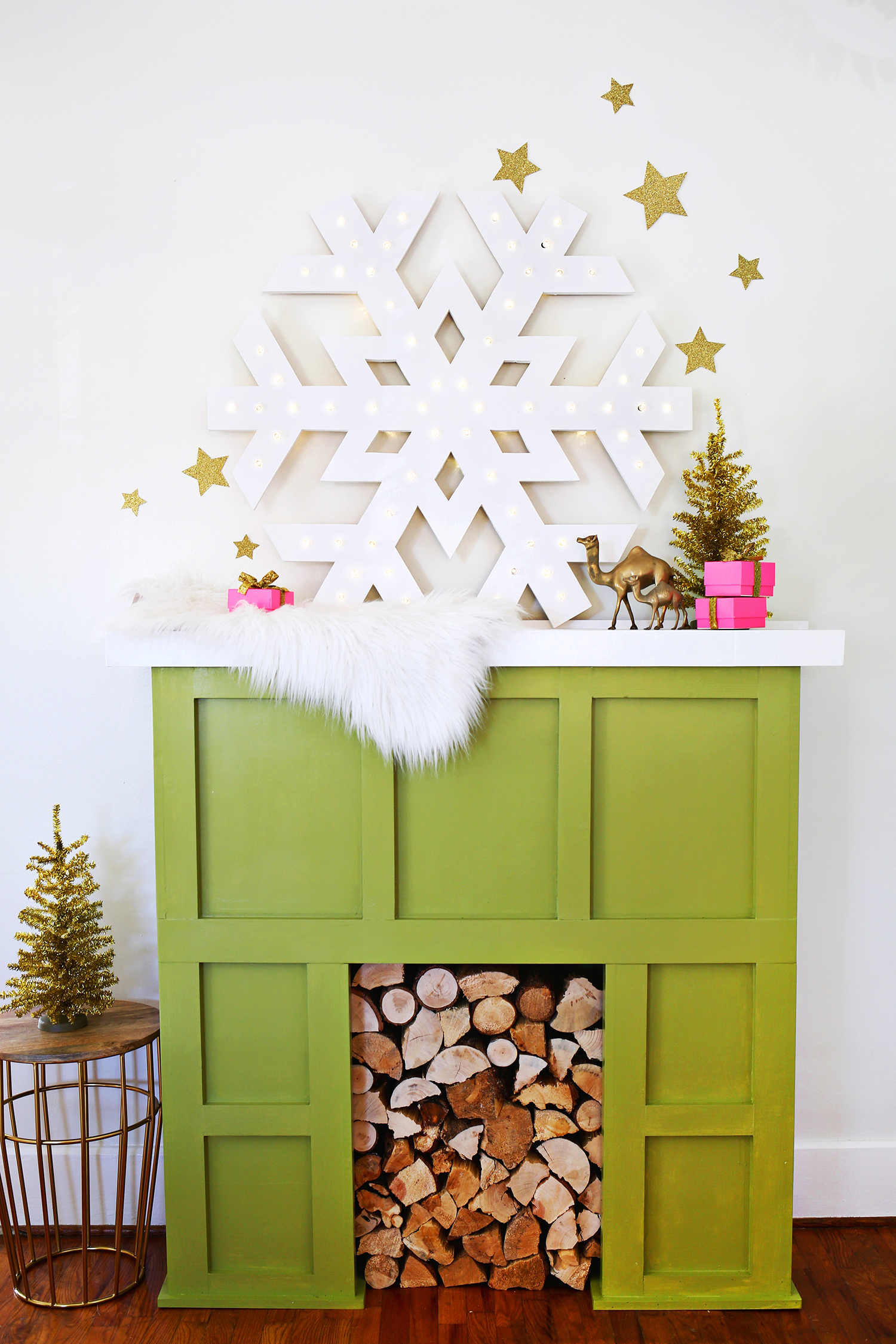 Diy snowflake lightup marquee