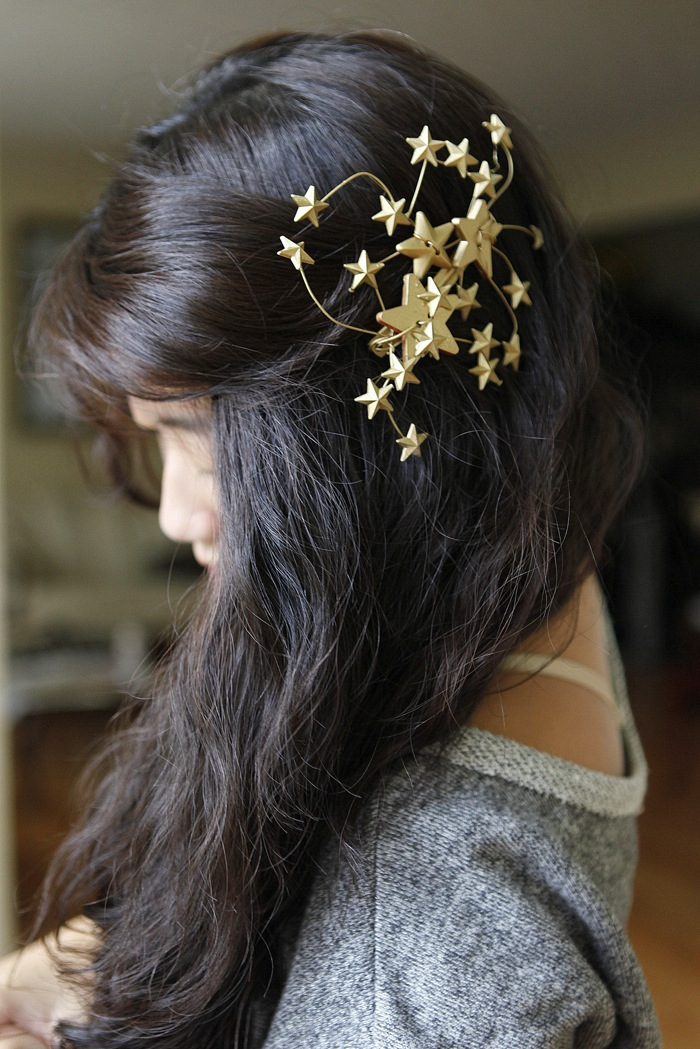 Diy star pin hairstyle
