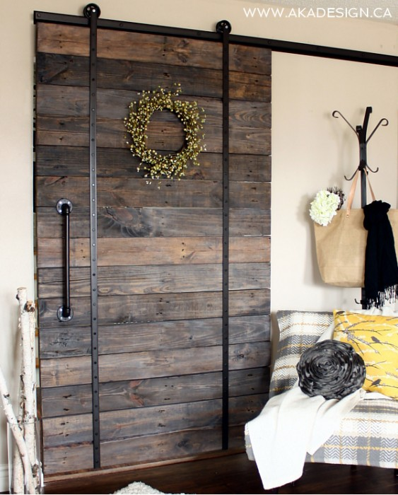 Diy barn door and tracker