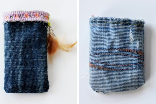 Diy denim phone case