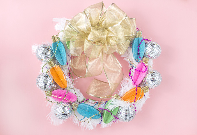 Diy glam christmas wreath 3