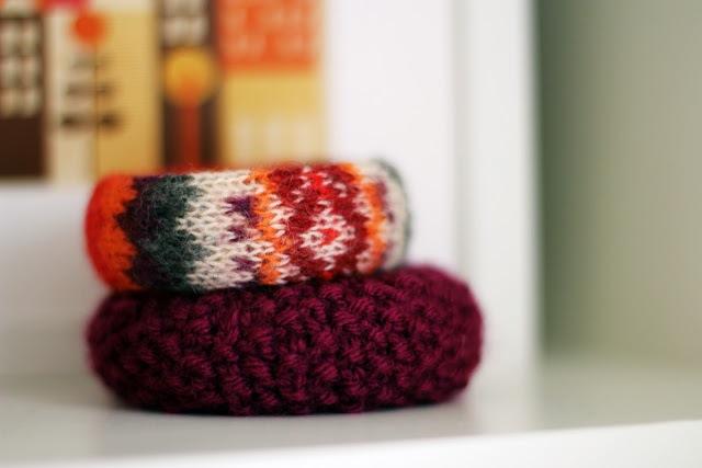 Diy sweater bracelet