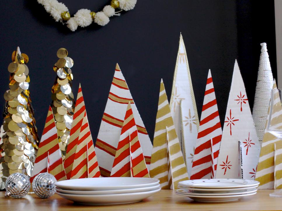 diy modern striped tees - Diy Christmas Centerpieces