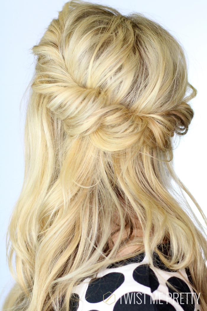 Diy twist hairstyle