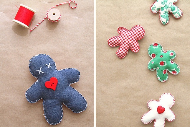 Denim gingerbread men