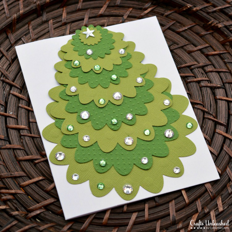 Die cut handmade christmas card crafts unleashed 3