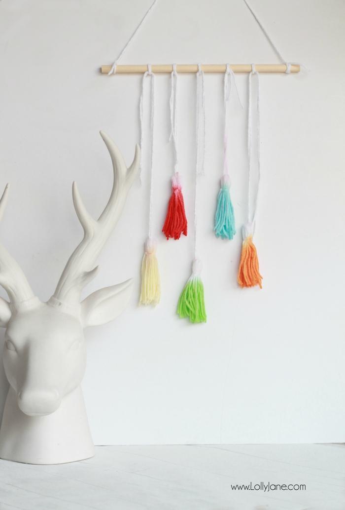 Dip dye tassel wall hanging