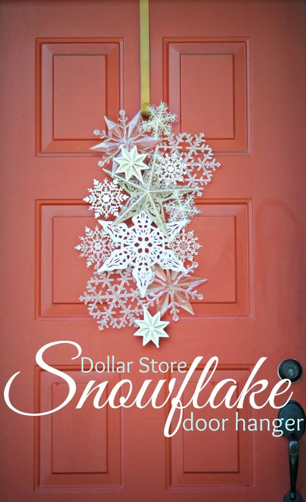 Dollar store snowflake door hanger 4