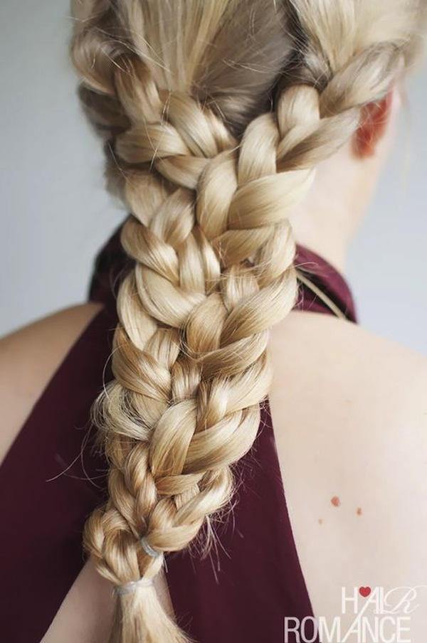 Dramatic triple braid