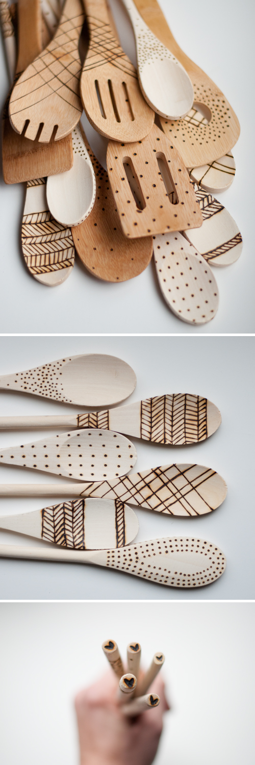 Etched spoons diy