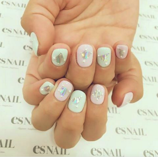 Festive pastel and holographic